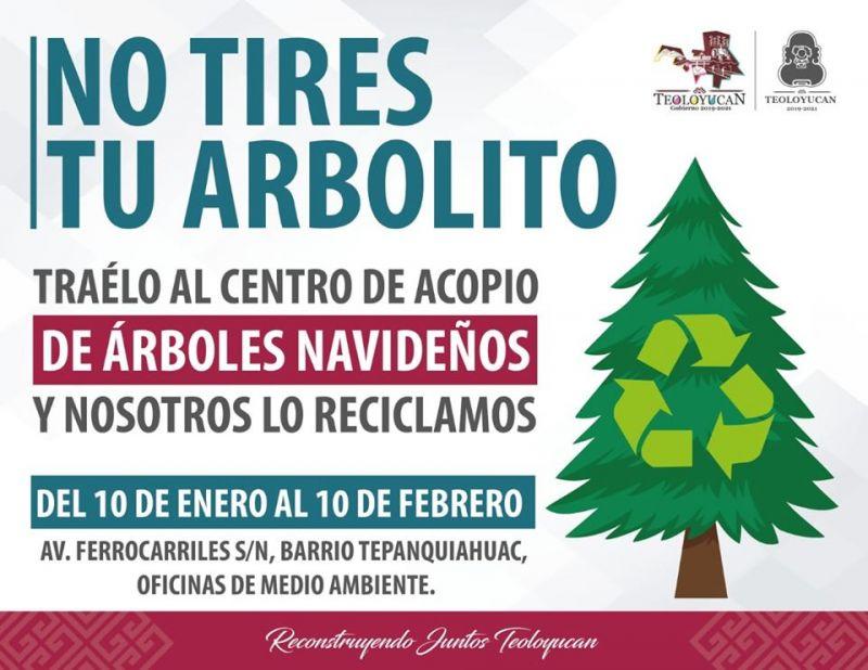 Recicla tu árbolito